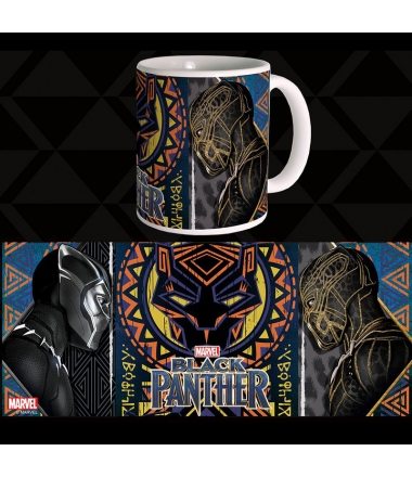 Taza Marvel Black Phanter Battle 300 ml