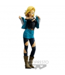 Figura Dragon Ball Z Android 18 25 cm azul claro