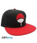 Gorra Naruto Uchiwa Snapback Negra y roja