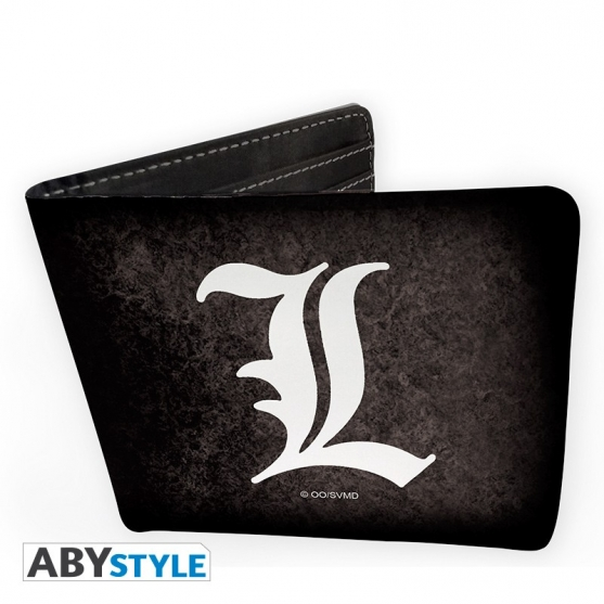 Wallet Of Death Note With The Symbol Of L