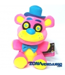 Peluche Five Nights at Freddy's Freddy Blacklight Rosa 18 cm