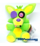 Peluche Five Nights at Freddy's Foxy Blacklight Verde 18 cm