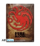 Placa metálica Game of Thrones Targaryen
