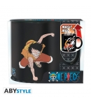Taza One Piece Luffy y Ace, Sensitiva al Calor 460 ml