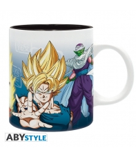 Taza Dragon Ball Z Saiyans y Piccolo 320 ml