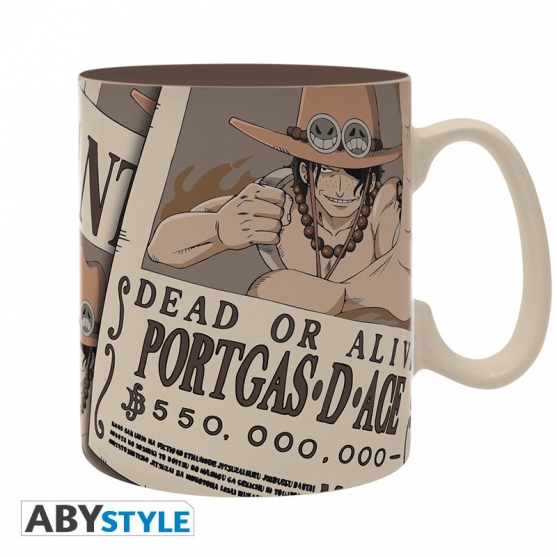 Taza One Piece Wanted Ace 460 ml