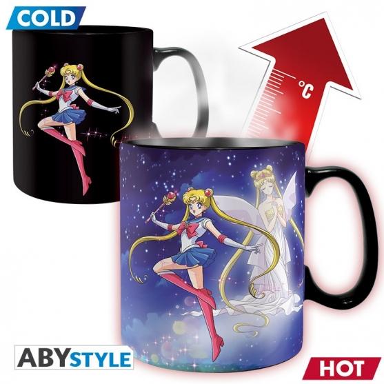 Taza Sailor Moon Sailor y Chibi, Sensitiva al Calor 460 ml