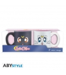 Set 2 Tazas Sailor Moon Luna y Artemis 110 ml