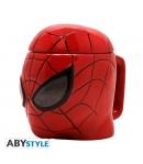 Taza Marvel 3d Spider-man 350 ml