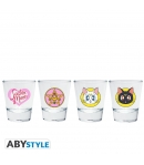 Set 4 Vasos Chupito Sailor Moon