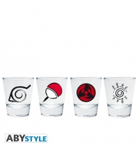 Set 4 Shot Glass Naruto Emblems