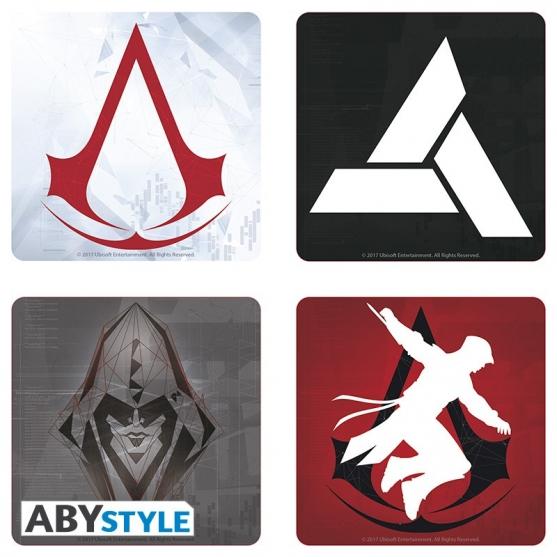 Set 4 Posavasos Assassin's Creed