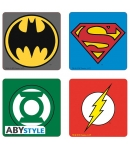 Set 4 Coasters Dc Emblems