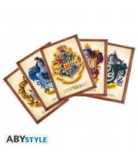 Set 5 Postales Harry Potter Emblemas