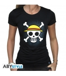 T-shirt One Piece Skull & Map Woman