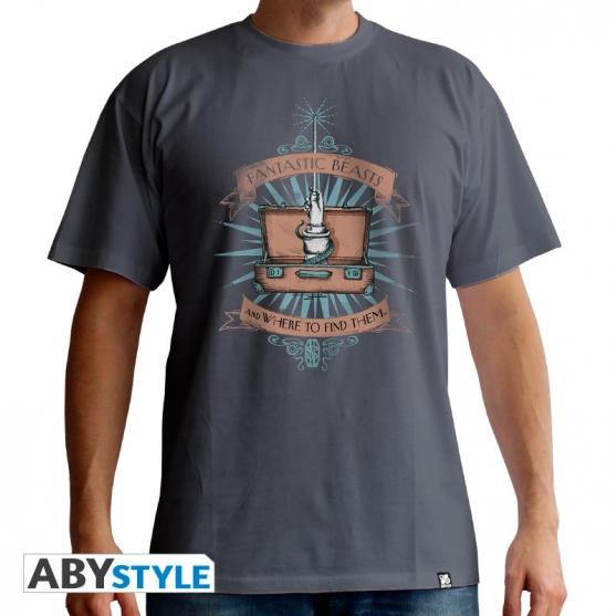 Camiseta Criaturas Fantásticas Maleta Hombre