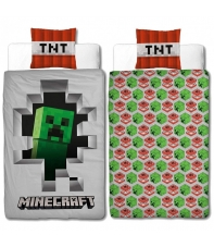 Duvet Cover Minecraft Creeper Tnt 135 x 200 cm