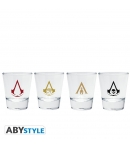 Set 4 Vasos Chupito Assassin's Creed Emblemas