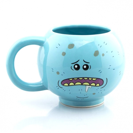 Taza Rick and Morty 3d Mr. Meeseeks 475 ml