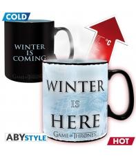 Taza Juego de Tronos Winter is Here, Sensitiva al Calor 460 ml