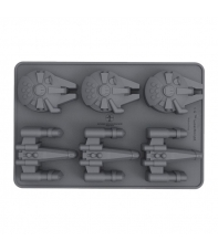 Ice Cube Tray Star Wars X-Wing & Millenium Falcon