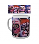 Taza Five Nights at Freddy's Sister Location Caras 295 ml