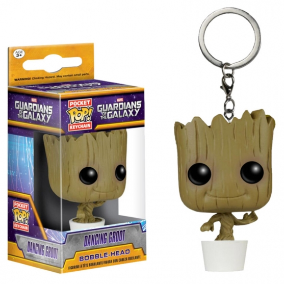 Llavero Pop! Dancing Groot Marvel Guardianes de la Galaxia