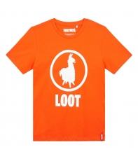 T-shirt Fortnite Loot Orange Kid