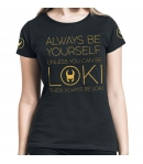 Camiseta Marvel Loki Always be Yourself Mujer