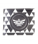 Cartera The Legend of Zelda Blanco y Negro Trifuerza