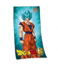 Towel Dragon Ball Super Son Goku Super Saiyan God, 150 x 75 cm
