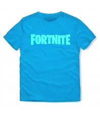 Camiseta Fortnite Logo Azul Niño