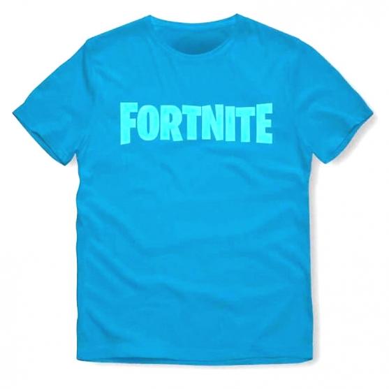 T-shirt Fortnite Logo Blue Niño
