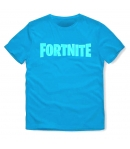T-shirt Fortnite Logo Blue Niño