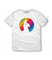 T-shirt Fortnite Llama Rainbow Kid