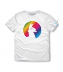 T-shirt Fortnite Llama Rainbow Kid