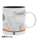 Taza Star Wars IX Naves Espaciales 320 ml