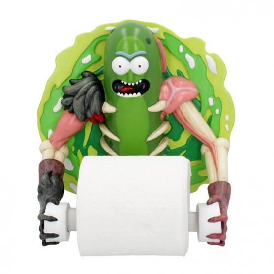 Portarrollo Higiénico Rick and Morty, Pickle Rick, 22,5 cm