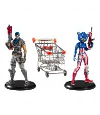 Set Figuras Articuladas con Accesorios Fortnite Shopping Cart 18 cm