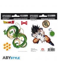 Pegatinas Reutilizables Dragon Ball Z Goku y Vegeta