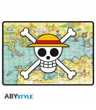 Alfombrilla Ratón Gaming One Piece Calavera con Mapa