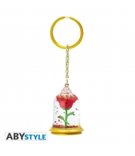 Keychain Disney Beauty and the Beast 3d Rose