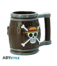 Taza One Piece 3d Barril 350 ml