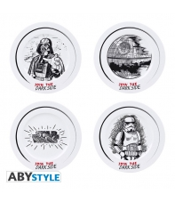 Set 4 Platos Star Wars Join the Dark Side