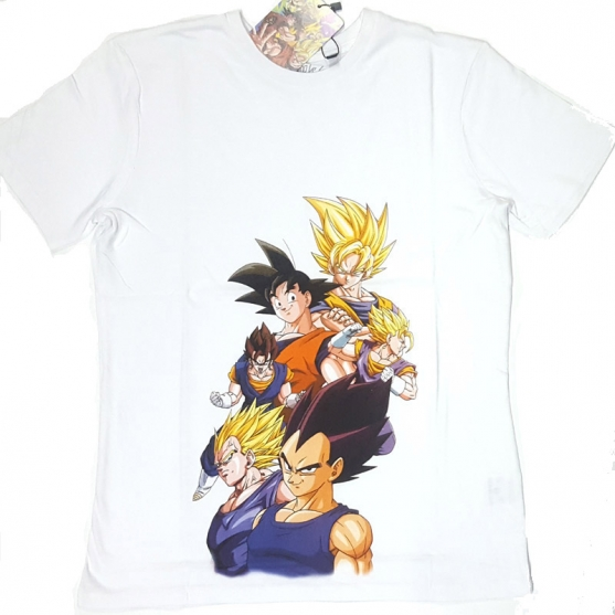 Camiseta Dragon Ball Z Transformaciones Niño