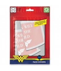 Pack 2 Mascarillas Dc Wonder Woman, Women Will Save the World