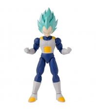 Figura Articulada Dragon Ball Super, Super Saiyan Blue Vegeta Dragon Stars Series 16, 17 cm