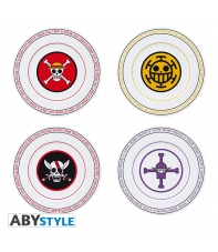 Set 4 Platos One Piece Emblemas