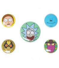 Pin Set Rick and Morty Faces
