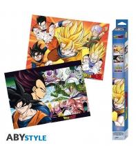 Pack 2 Posters Dragon Ball Z Saiyans, 52 x 38 cm